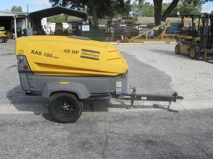 Used 2014 Atlas Copco XAS 185 Mobile Air Compressor