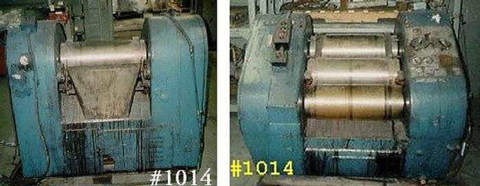 Used 10 in. X 20 in. BUHLER THREE ROLL MILL  HYD. 25 HP 2 SPEED – #1014