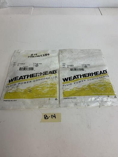 New 1110X3 Weatherhead Flare Nut (Lot Of 2) Fast  Shipping!