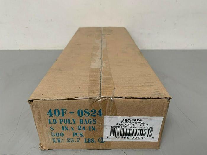 Used Lot of 500- Elkay Plastics 40F-0824 LD Poly Bags