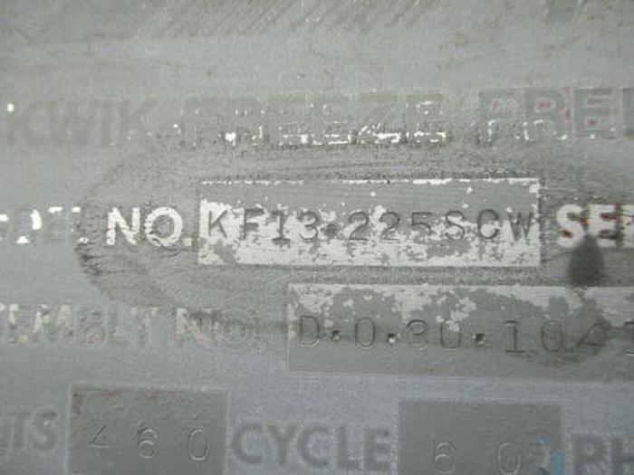 1989 AIRCO KWIK FREEZE FREEZING SYSTEM MODEL KF13-225SCW