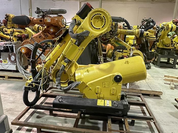 Used 2012 FANUC R2000IB/100P 6 AXIS 3500 MM X 100 KG PEDESTALL MOUNT ROBOT