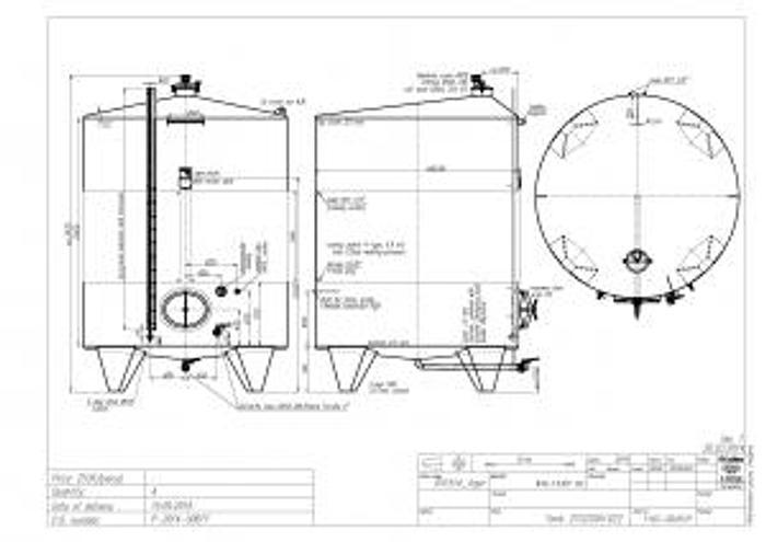 New Stock - Letina 2690 Gal Tank