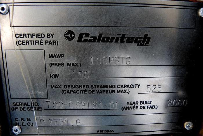 USED BOILER, STEAM ELECTRIC BOILER, 150 KW