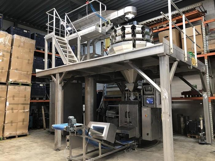 Used Complete weighing and packing line