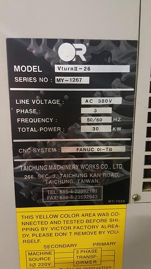 VICTOR VTurn-II-26 Horizontal Lathe