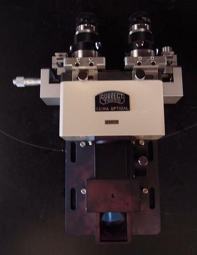 Used Correct Seiwa Optical Inverted Microscope Head with Eyepiece Extenders (3101)
