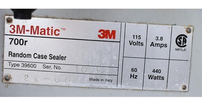 USED 3M 700R RANDOM CASE SEALER, TYPE 39600
