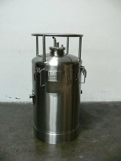 Used Lot of 4 Precision 200 Liter 316 Stainless Steel  Pressure Vessel 100 PSI @ 302F