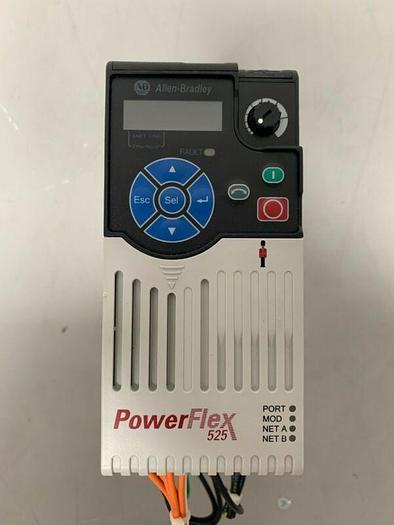 Used 25B-D1P4N104 Allen-Bradley Series A PowerFlex 525 0.5 HP/380-480V/47-63Hz