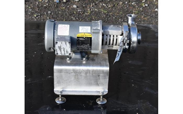 "USED CENTRIFUGAL PUMP, 2"" X 1.5"" INLET & OUTLET, STAINLESS STEEL, SANITARY"
