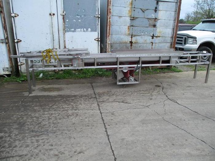"Used Conveyor; Bi-Directional Intralox Belt; 18""Wx9'L"