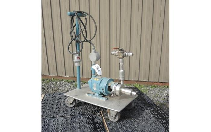 "Used USED CENTRIFUGAL PUMP, 1"" X 1.5"" INLET & OUTLET, STAINLESS STEEL, SANITARY"