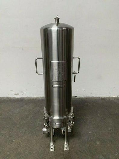Used Cuno 6ZWB3 Stainless Steel Cartridge Filter Housing 150PSI @176°C