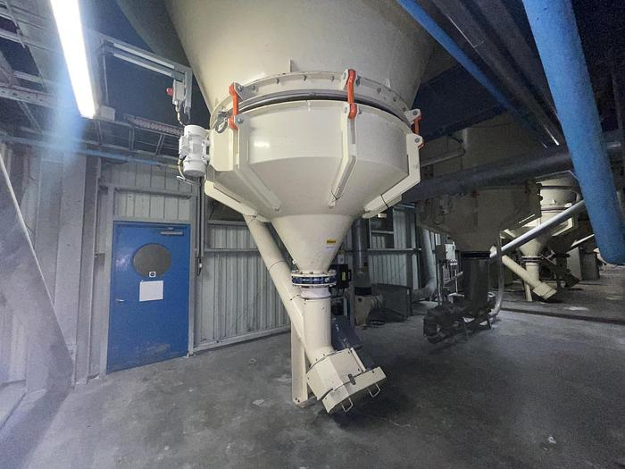 Used BUHLER NNP Silo with Discharger and Filter