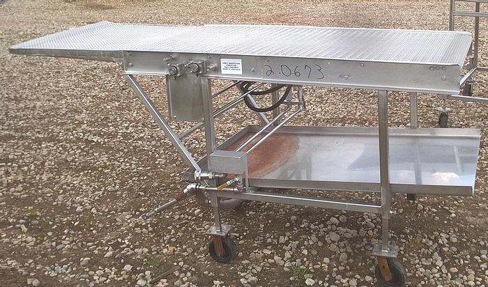 """Used Batter/Breading Inspection Conveyor; 34""""W"""