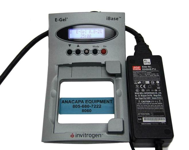 Used Invitrogen E-Gel iBase Power System W/Power Supply Electrophoresis System (8060)