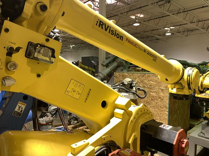 Used FANUC R2000iC/125L 6 AXIS CNC ROBOT WITH R30iB CONTROLLER, IR VISION, 125KG X 3,100 MM H REACH