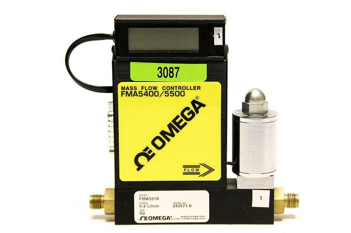 Used OMEGA Mass Flow Controller with Display FMA5400/5500 FMA5416 (3087)