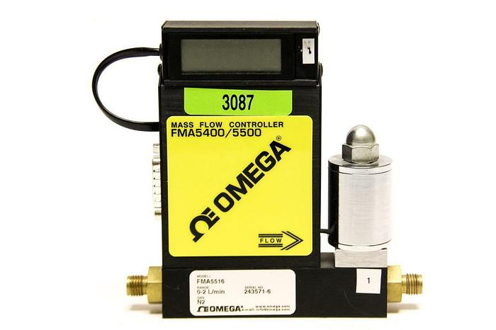 Used OMEGA FMA5400/5500 FMA5516 Mass Flow Controller with Display (3087)