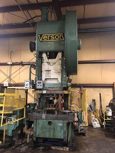 Used 250 TON VERSON GAP FRAME PRESS