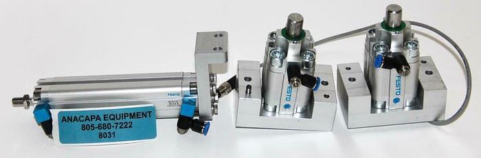 Used Festo ADVU-12-90-A-P-A & STA-20-15-P-A Pneumatic Cylinders Lot of 3 (8031)W