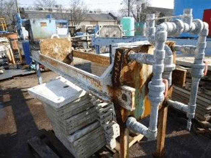 Used 12 CU. FT. SHRIVER/EIMCO FILTER PRESS – POLYPRO – 630 MM – AUTOMATIC CLOSURE