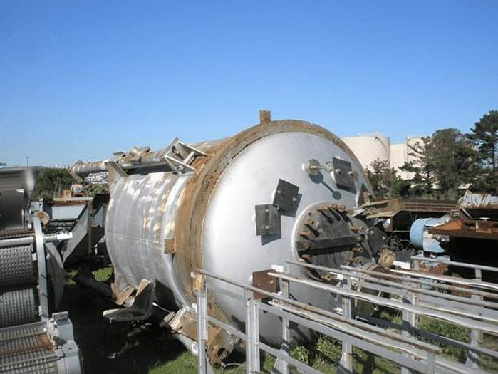 Used 3000 GALLON BLAW KNOX REACTOR – T-316 S/S – 150 PSI INTERNAL/35 PSI JACKET (#8330)