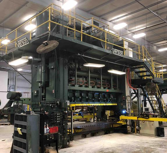"""Used 800 ton Verson 181""""x48"""" SSDC Stamping Press"""