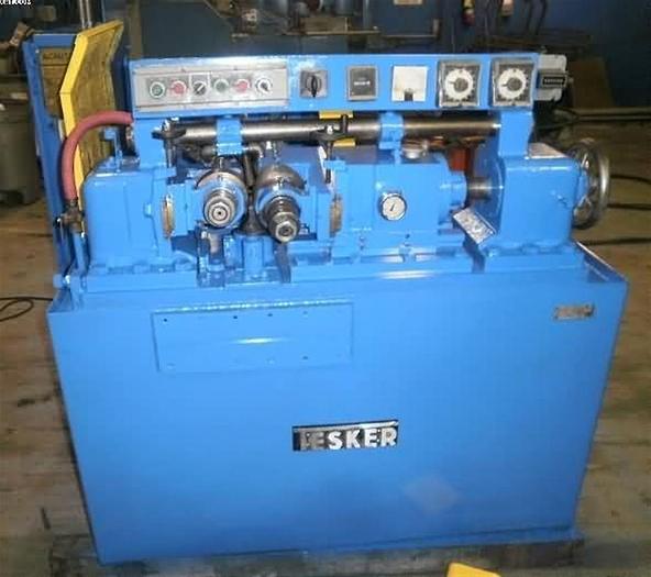 Used Tesker Model 215, Infeed/Thru Feed 2 Die Cylindrical Type