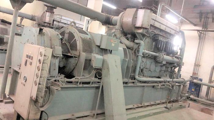 Used 1.18 MW 2002 Used Mitsubishi S6U2-PTA HFO Generator Set