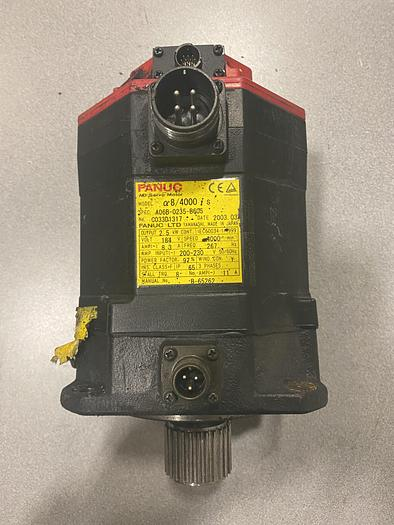 Used FANUC SERVO MOTOR a8/4000 iS A06B-0235-B605