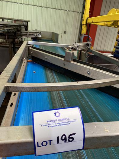 Used Stainless Steel Conveyor Belt 9m L 0.85m W