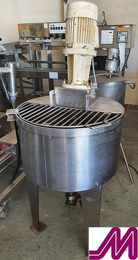 Used 120 Litre Stainless Steel Mix Tank with Ytron Mixer
