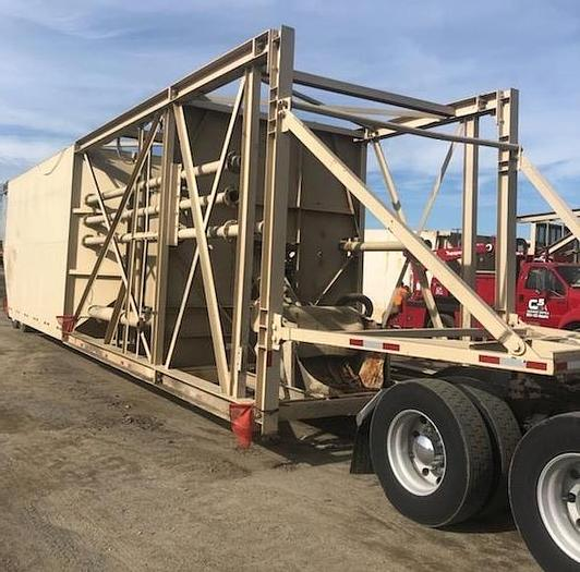 Used Rex Portable 150 Ton Split Cement Silo and Scale