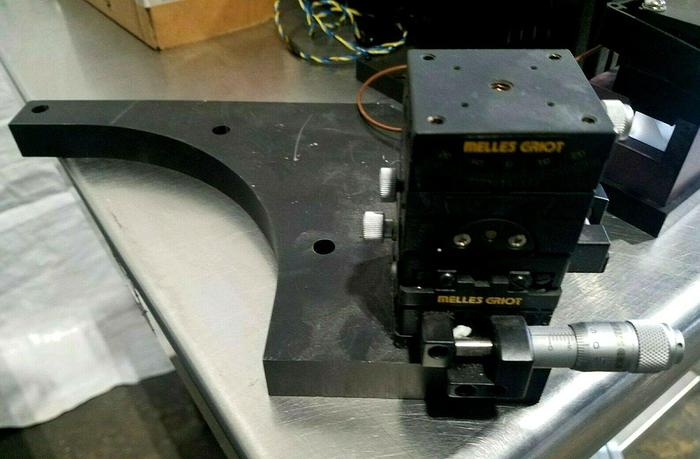 Used Melles Griot Laser Accessories Brackets with Vernier