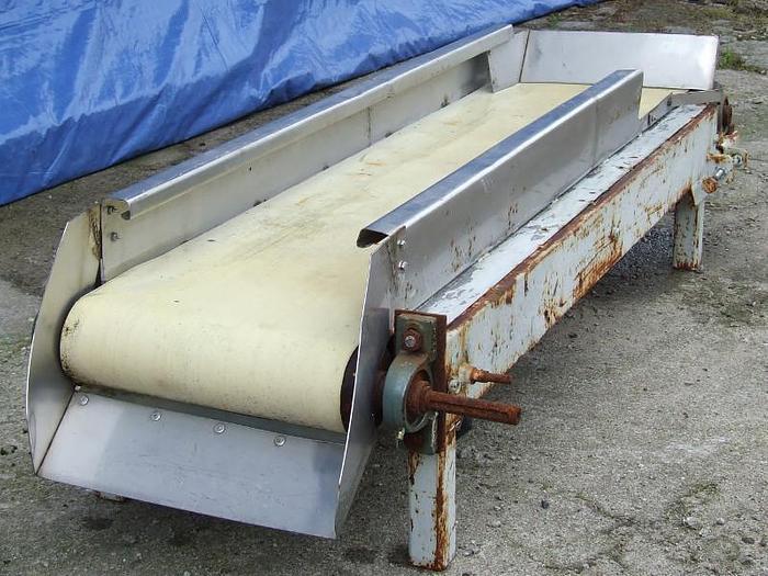 Używane Przenośnik taśmowy z burtami bocznymi i tylną