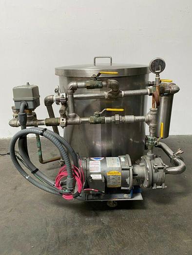 Used Stainless Steel 110 Liter Balance Tank w/ Price Pump & 1 HP Motor