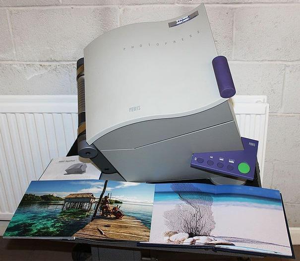 Used Ex-showroom Powis PHP Fastback PhotoPress Flat-Book Binding Machine