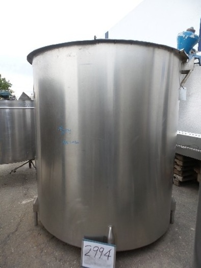 1,600 Gallon Vertical Stainless Steel Tank #2994