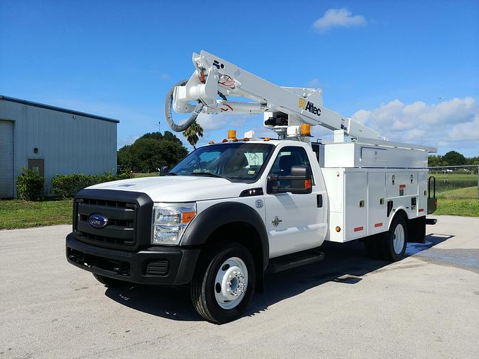 Used Altec AT40M 45ft Articulating Telescopic Boom on 2012 Ford F550 Regular Cab Utility Body - 49716