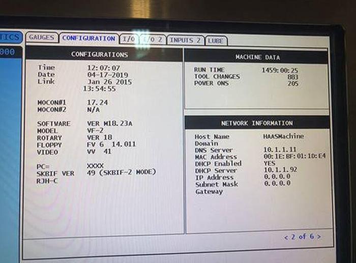 2015 Haas VF-2 CNC Vertical Machining Center
