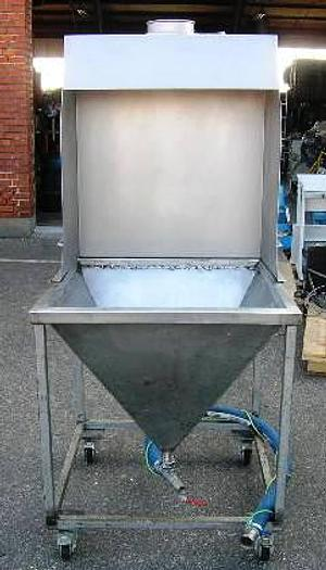 Used Mobile wash water collecting unit with suction device for removal of fumes