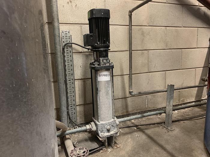 Used 2017 GRUNDFOSS CR1-23 A-A-A-E-HQQE Pump