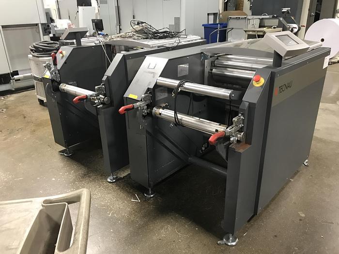 Lasermax Tecnau Roll to Roll Solution - U8 Unwinder / LX555 Rewinder (High Speed)