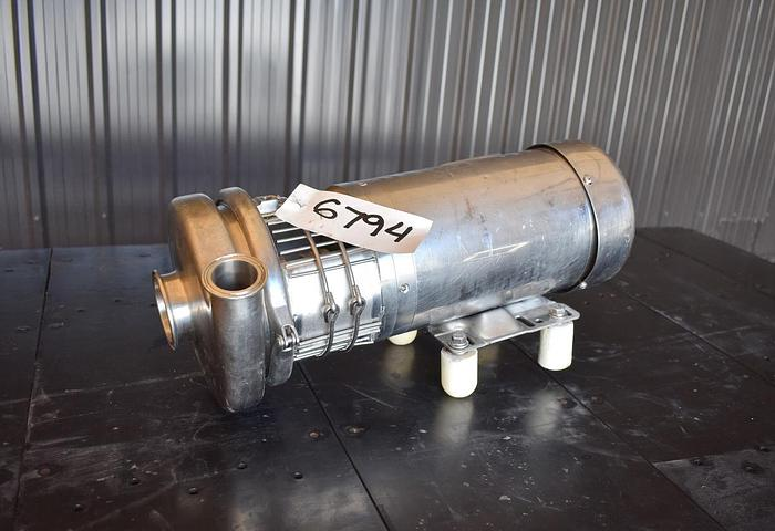 """Used USED TRI-FLO CENTRIFUGAL PUMP, 2"""" X 1.5"""", STAINLESS STEEL"""