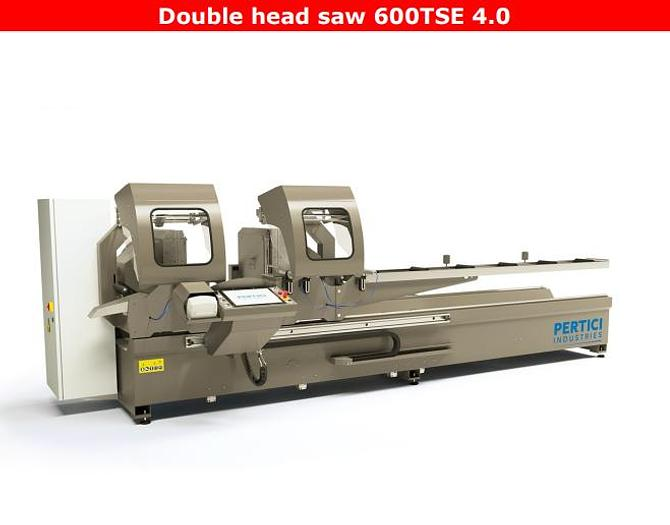 Used Pertici Double Head 600TSE 4.0 Saw