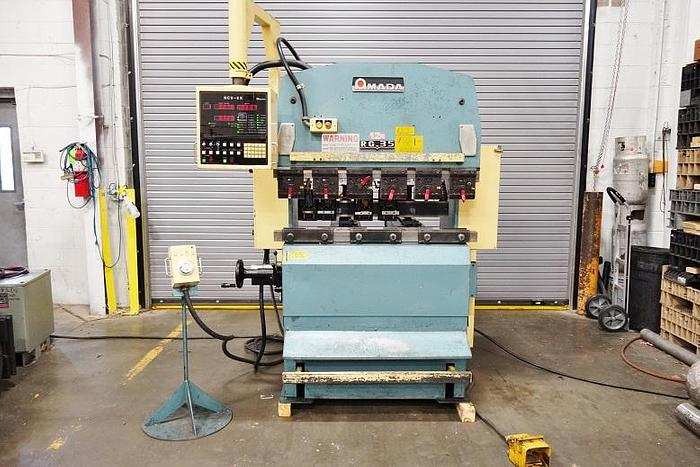 1986 Amada RG 35S CNC 3 Axis Press Brake with Tooling and Fingers  RRG 35 S