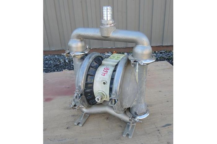 "Used USED WILDEN DIAPHRAGM PUMP, 1.5"" X 1.25"" INLET & OUTLET, 316 STAINLESS STEEL"