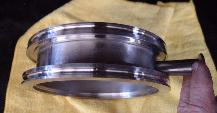 """Used HPS MKS 7"""" ISO Vacuum Fitting with 1-1/8"""" Universal Port (3537)"""